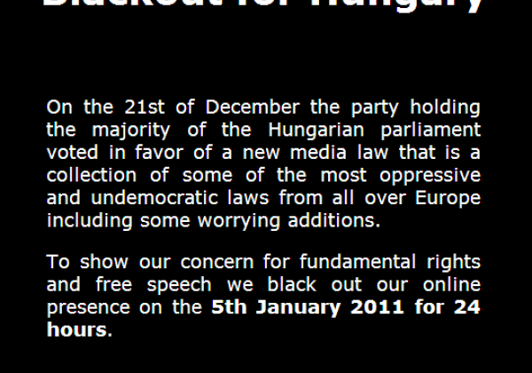 Blackout for Hungary